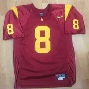Vtg Nike Men's USC Trojans stitched #8 Jersey L